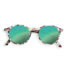 Let Me See Sunglasses - Tortoise Green Mirror #D