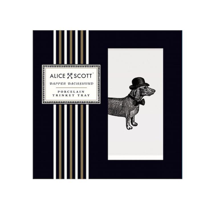 Alice Scott Small Tray Dachshund