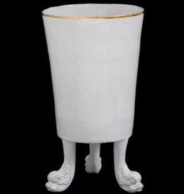Astier de Villatte John Derian Vase -Three Feet and Gold Rim