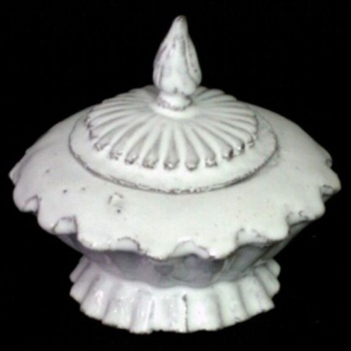 Astier de Villatte John Derian Sugar Bowl on Stand - Peggy
