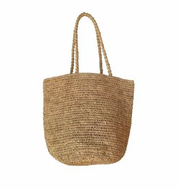 Made in Mada Raffia Bag Alice MM - Tea