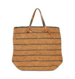 Made in Mada Raffia Bag Debbey - Tea/Grey
