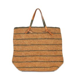 Made in Mada Raffia Tas Debbey - Thee/Grijs