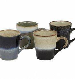HK Living Cups Espresso Retro Style - set of 4