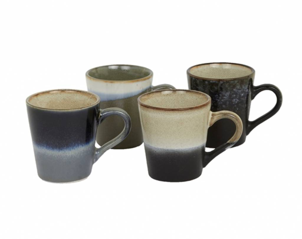 HK Living Cups Espresso Retro Style - set of 4