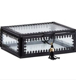 Madam Stolz Box Glass with Tassel - Large