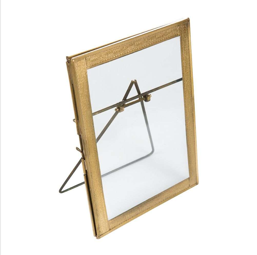 Nkuku Standing Photo Frame - Brass