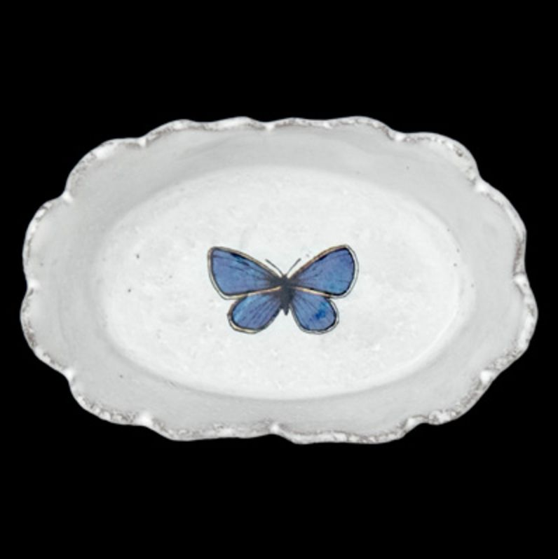 Astier de Villatte John Derian Schaaltje - Donkerblauwe Vlinder