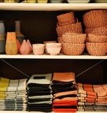Harmony Tea Towel Linen - Peach
