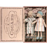 Maileg Mouse in Cigar Box - Mum and Dad