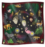 Patricia Nicolás Scarf Silk - The Loin Sleeps Tonight