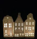 &K Waxinelichthouder  Grachtenpand - Pakhuis