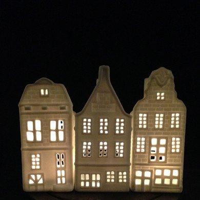 &K Tea Light Holder Canal House - Scrag