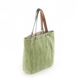 Enfil d'Indienne Bag Velvet -  Green