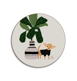 Avenida Home Coaster - Dogs Chihuahua