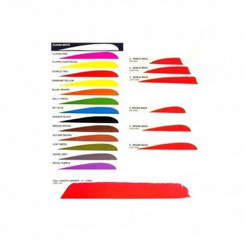 Truefligth Trueflight Turkey feathers solid colour parabolic