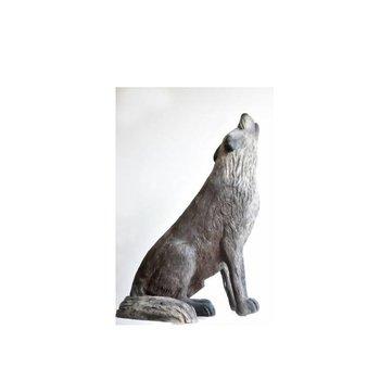 Leitold 3D-Ziel Timberwolf sitzend heulend