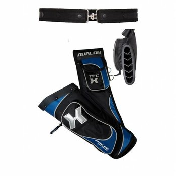 Avalon Top Quiver TEC 'X' - WITH DIVIDER AND BELT BLACK/BLUE