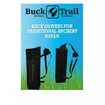 Buck Trail Köcher BLACK SUEDE 56cm