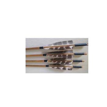 SkyArt Archery. Bamboo Komplett Pffeil mit Naturbelassene Feder