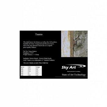 SkyArt Archery. SkyArt Taurus ( Neu) Komplettpfeil mit 4 Zoll Natur Feder,Schaubinsert und Schraubspitze