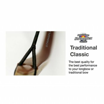 Flex Traditional Longbow Classic Dacron 2-Colors Brown/Yellow