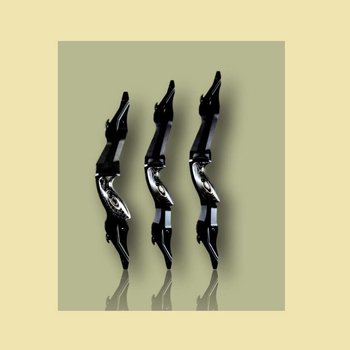 """Iguanes.  Ebony. ILF Mittelstück 17"""" / 19"""" / 21"""". Aluminium CNC"""