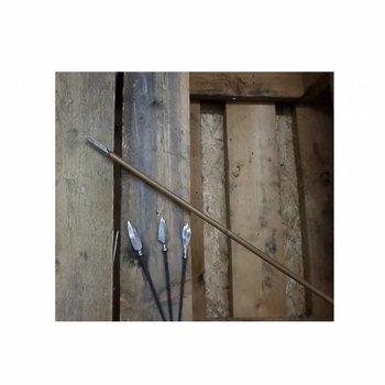 Iguanes.  Tonkin Bamboo, Japanische Jagdspitze,Naturbelassene Feder und Horn Nock