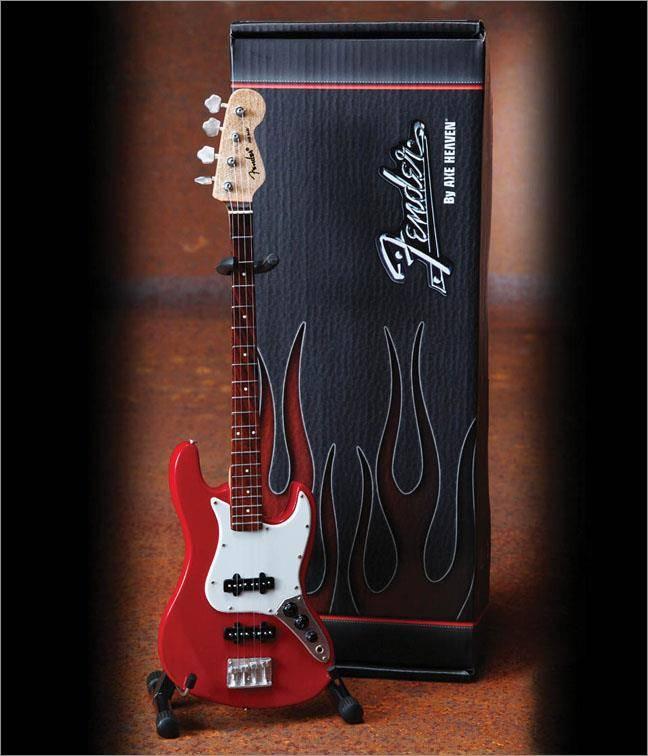 Axe Heaven Axe Heaven miniatuur gitaar | Fender™ Jazz Bass™ - Classic Red Finish