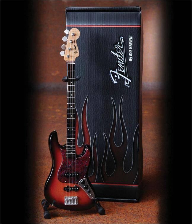 Axe Heaven Axe Heaven miniatuur gitaar | Fender™ Jazz Bass™ - 3-Color Sunburst