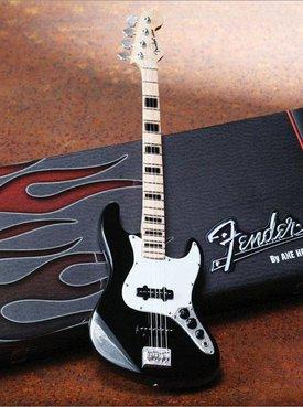 Hal Leonard Axe Heaven miniatuur gitaar | Fender™ Jazz Bass™ - Black Finish