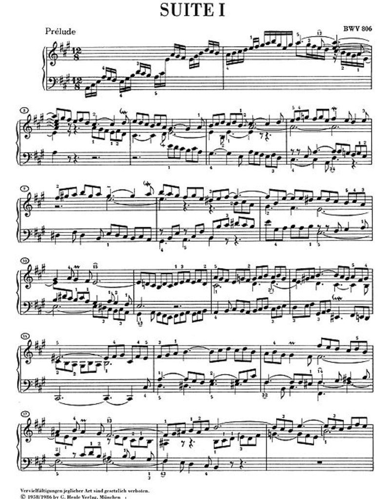 Bach, J.S.  English Suites BWV 806-811 - Upstream Music Shop