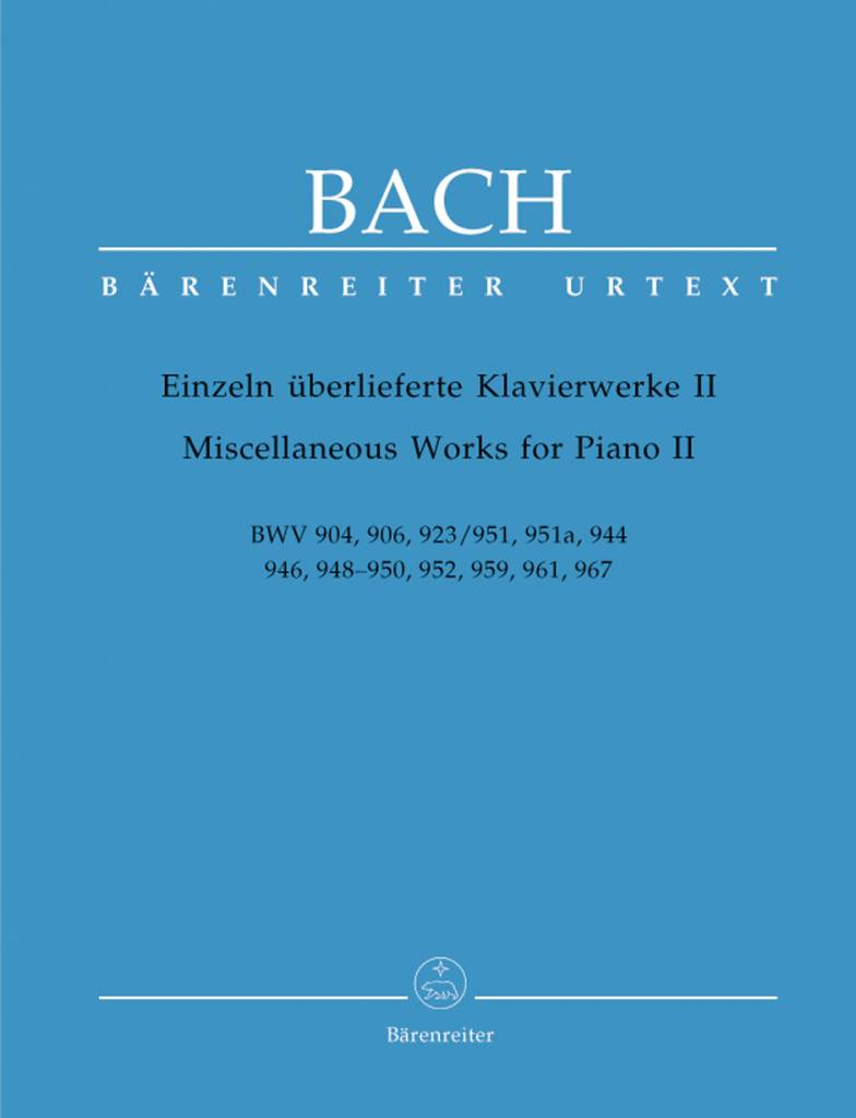 Bärenreiter Bach, J.S. | Diverse werken voor piano II