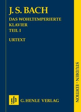Henle Verlag Bach  | The Well-Tempered Clavier | Volume 1 (studie-uitgave)