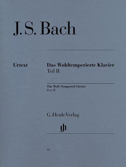 Henle Verlag Bach  | The Well-Tempered Clavier | Volume 2