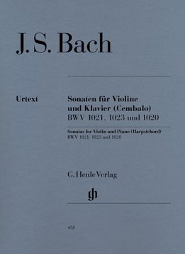 Henle Verlag Bach   Drie sonates voor viool en piano BWV 1020, 1021, 1023