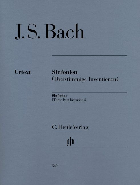 Henle Verlag Bach  | Sinfonia's (driestemmige inventio's)