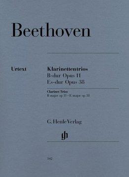 Henle Verlag Beethoven | Klarinet trio in Bes op. 11 en Es op. 38 voor Piano, Klarinet (of viool) en Cello