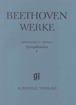 Henle Verlag Beethoven, L. van | Complete Uitgave Serie 1 Volume 1 : Symfonieën 1