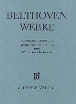 Henle Verlag Beethoven, L. van | Congratulations minuet en dansen voor orkest | Complete uitgave serie II Volume 3 | Zachte kaft