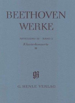 Henle Verlag Beethoven | Pianoconcerten 3 | Complete uitgave serie 3 Volume 5 | Zachte Kaft