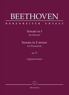 "Bärenreiter Beethoven, L. van | Pianosonate in f klein op. 57 ""Appassionata"""
