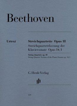 Henle Verlag Beethoven, L. van | Strijkkwartetten op. 18,1-6 en strijkkwartet versie van pianosonate, op. 14,1