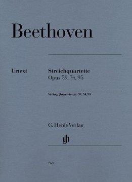 Henle Verlag Beethoven  | Strijkkwartetten op. 59, 74, 95 | partituur