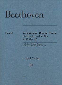 Henle Verlag Beethoven, L. van   Variaties, Rondo en Dansen voor Piano en Viool