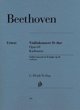 Henle Verlag Beethoven, L. van | Vioolconcert in D op. 61 | Cadensen