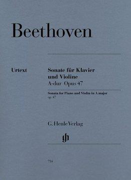 Henle Verlag Beethoven, L. van | Sonate voor Piano en Viool in A op. 47 (Kreutzer-Sonate)