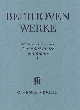 Henle Verlag Beethoven | Werken voor Piano en Viool Volume 1 | Complete Uitgave, serie 5, volume 1
