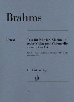 Henle Verlag Brahms, J. | Klarinet Trio in a klein op. 114 voor Piano, Klarinet (of altviool) en cello