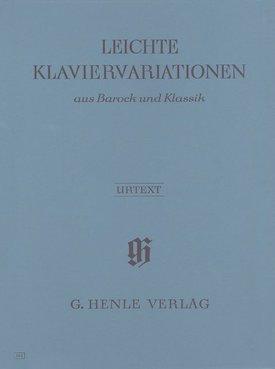 Henle Verlag Eenvoudige variaties voor piano uit De Barok en de Klassieke Periode